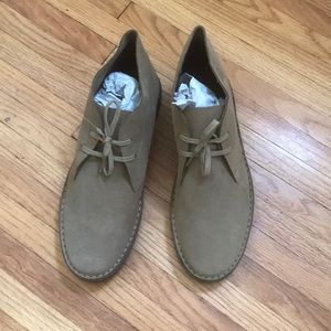 Jcrew suede lace-up boot sand color 9 1/2